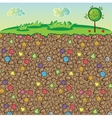 nature stones and gems underground vector image vector image