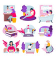 online education distant studies at school or vector image vector image