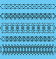 ornaments of black iron handrails and fences on a vector image vector image