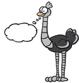ostrich with thought bubble vector image