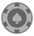 peaks suit silver casino chip vector image vector image