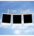 Photo Frames on Rope5 vector image vector image