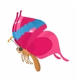 Pink-blue butterfly icon cartoon style vector image vector image
