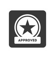 quality control icon with approved symbol vector image