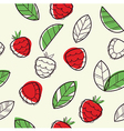Raspberry seamless pattern vector image vector image