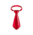 Red dotted tie isolated on white vector image vector image
