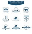 Seafood logos template vector image vector image