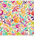 seamless pattern with abstract organic forms vector image vector image