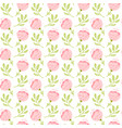 seamless pattern with flat flower bouquet vector image vector image