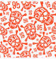 seamless pattern with image skull vector image