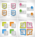 Set of 4 in 1 Business infographics elements vector image vector image
