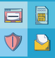 set of security systems vector image