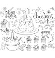 set with traditional christmas sweets isolated on vector image vector image