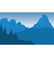 silhouette of city on mountain vector image vector image