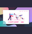 smm influencer strategy website landing page vector image vector image