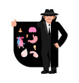 smuggler selling organs brains and heart stomach vector image