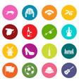 spain travel icons many colors set vector image vector image