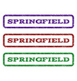 springfield watermark stamp vector image vector image