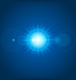 sun with lens flare lights template and vector image vector image