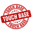 touch base red grunge stamp vector image vector image