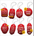 vintage style sale tags design collection 2 vector image vector image