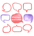 watercolor speak bubbles vector image vector image