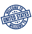 welcome to united states blue stamp vector image