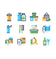 zero waste color linear icons set vector image vector image