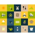 Flat icons set 26 vector image