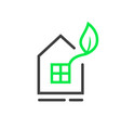 eco window logo with thin line house vector image