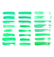 abstract watercolor green brush strokes isolated vector image vector image