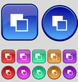 Active color toolbar icon sign A set of twelve