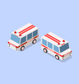 ambulance car isometric vector image vector image