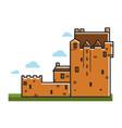 ancient castle scotland travel tourism landmark vector image