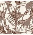 animal print giraffe seamless pattern vector image