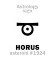 astrology asteroid horus vector image