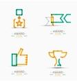 Award icon set Logo collection vector image vector image