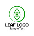 b leaf logo symbol icon sign vector image