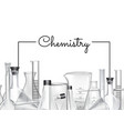 background with place for text and chemical vector image vector image
