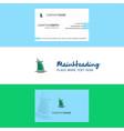 beautiful dubai hotel logo and business card vector image vector image