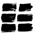 Black Painted Backgrounds Set vector image