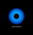 blue logo design template color circular shape vector image