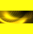 bright neon circles and wave lines glowing shiny vector image
