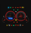 car speedometer modern auto panel realistic view vector image