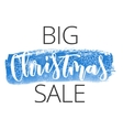 Christmas sale hand written inscription vector image