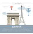 City buildings graphic template France Paris vector image vector image