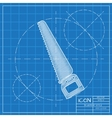 color flat saw Industrial equipment vector image vector image