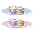 colorful gelatin dessert on a plate vector image
