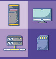 computer hardware elements vector image