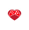 console gamer heart symbol love gaming passion vector image vector image